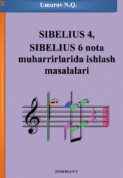 Сибелиус 4, Сибелиус 6 нота муҳаррирларида ишлаш масалалари