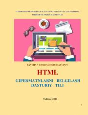 HTML gipermatnlarni belgilash dasturiy tili