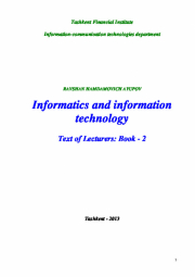 Informatics and information technology: Text of lecturers -Book-2